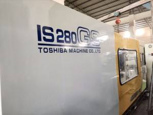 Toshiba 280t IS280GS (V21 Control) used plastic injection molding machine.