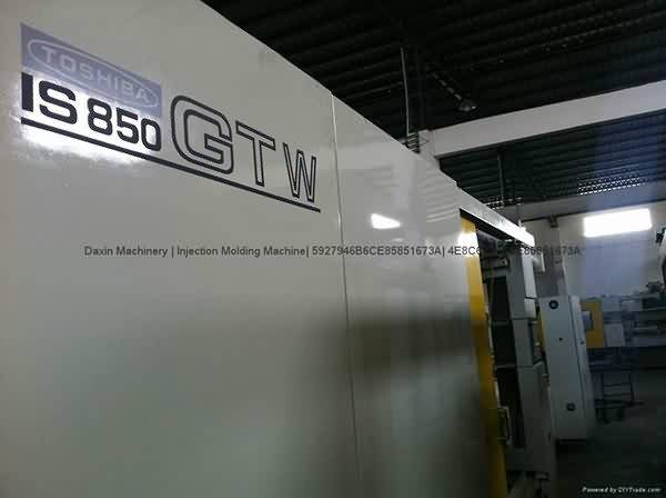 Toshiba IS850GTW (wide cilindro) utilizado Imaxe Injection Molding machine Destaque