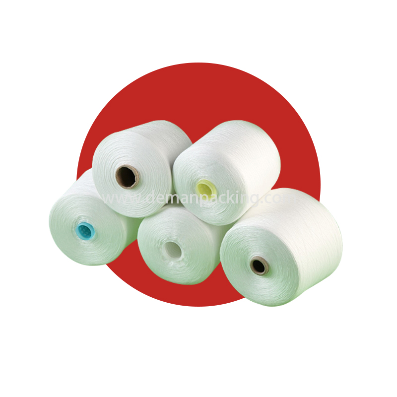 Raw White Bright spun polyester Yarn
