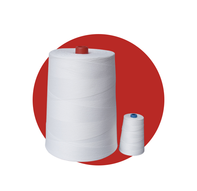 Our premium 100% polyester bag closing thread will ensure a secure and safe closure for a wide range of bags & sacks With a silicon treatment Aurora's industrial sewing thread runs smoothly with minimal lint build up and has an excellent yield and breaking strain rating. Industrial bag sewing thread is used to close various types of bags: multi-walled paper, woven, laminated woven polypropylene, jute, polyester, flat & gusseted. The type of bag, bagging conditions and the product being bagged are just some of the considerations that will determine the best kind of thread to be used.