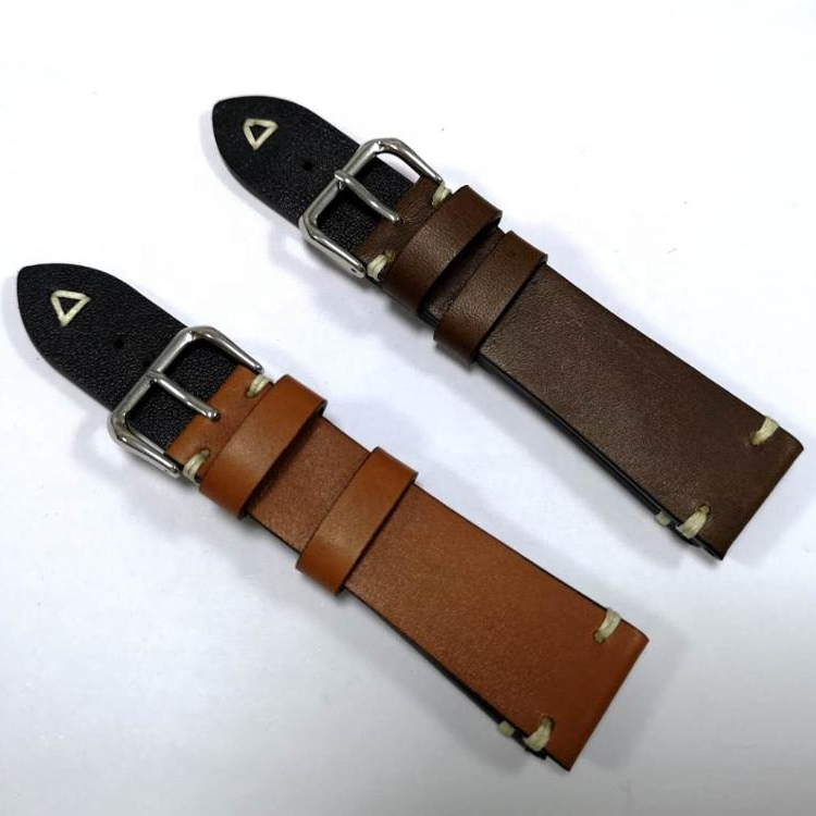 Handmade 18/20/22/24mm leather strap Italian leather strap