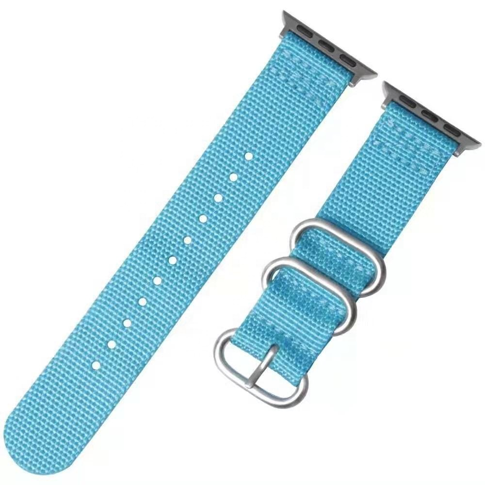 Watch Canvas Fabric Replacement Leather Sports Strap for Iwatch 42mm 38mm Series