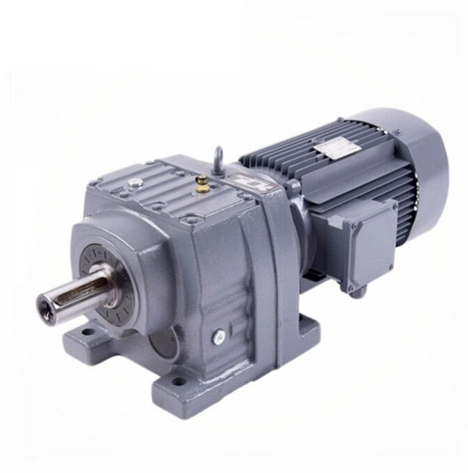 2019Foot mounted Flange mounted helical industrial gearbox RF37 gear reducer