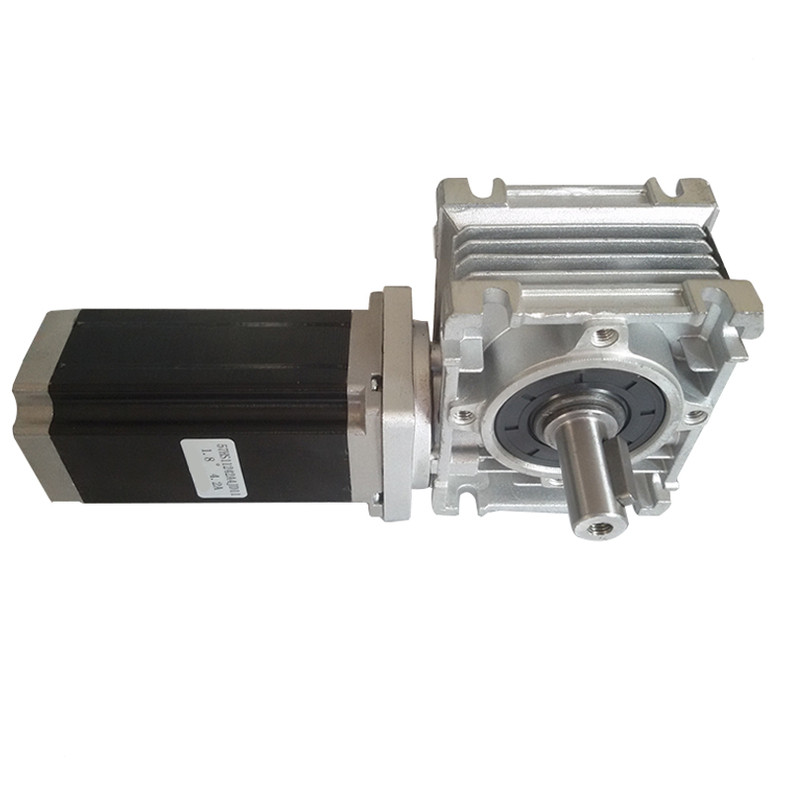 RV series small aluminum worm reducer NMRV30 40 50 63 75 90 110 worm gearbox for stepper motor with  24V DC motor