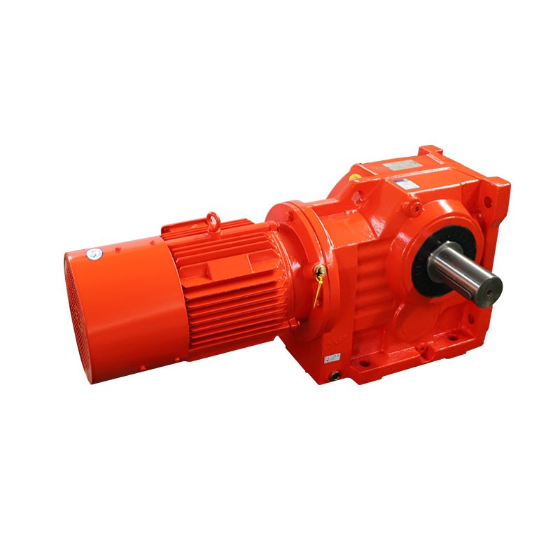 Reliable and durable K series high  torque gearbox  helical gear motor and helical gear reducer worm gear horizontal reducer