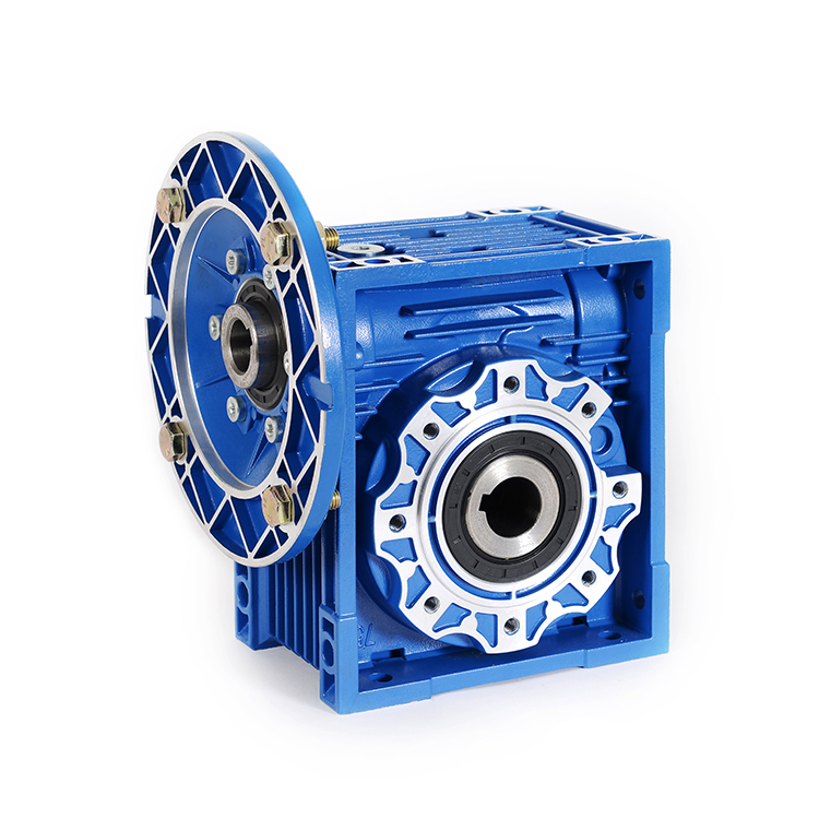 DEVO High Quality NMRV75 worm gear reducer  hollow shaft output flange gearbox with IEC standard motor