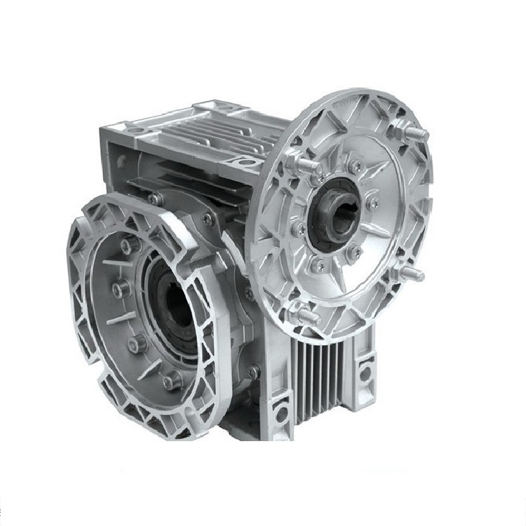 NMRV50 hollow shaft, F1 output flange worm-gear gearbox with IEC standard motor flange