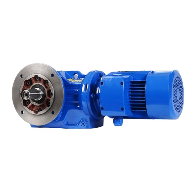 DEVO High precision K series KF37  helical bevel gear  speed reducer with 5HP motor