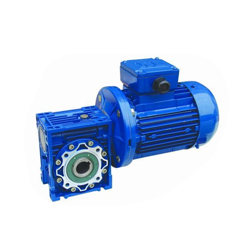Aluminum RV series small  worm reducer NMRV30 40 50 63 75 90 110 worm gearbox for stepper motor with  24V DC motor