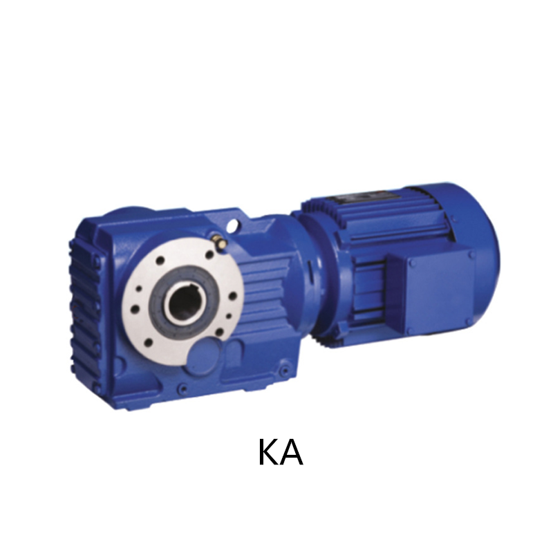Base type solid shaft output helical bevel  K series gear reducer for industries equipment