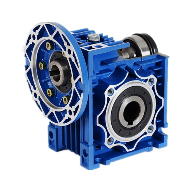 NMRV small aluminum worm gearbox ratio 10 15 20  rv30 nmrv 030 worm gear reducer with 1.5kw gear motor