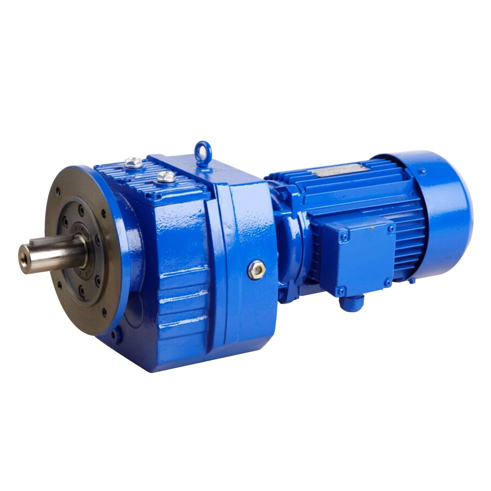 High torque R series helical gear speed reducer R67 R77 R87 gearbox with 3hp ac  motor