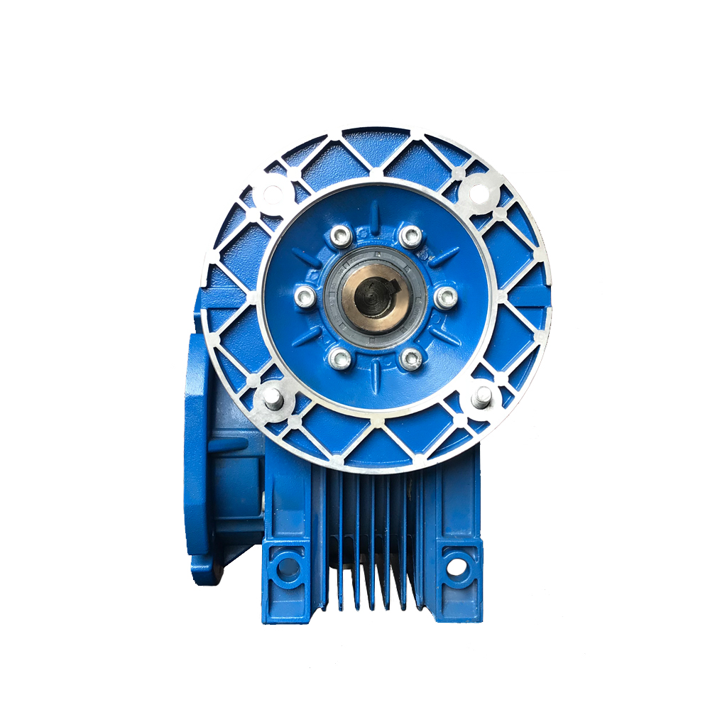 NMRV hollow shaft output, F1 output flange worm-gear reductor with IEC standard motor flange
