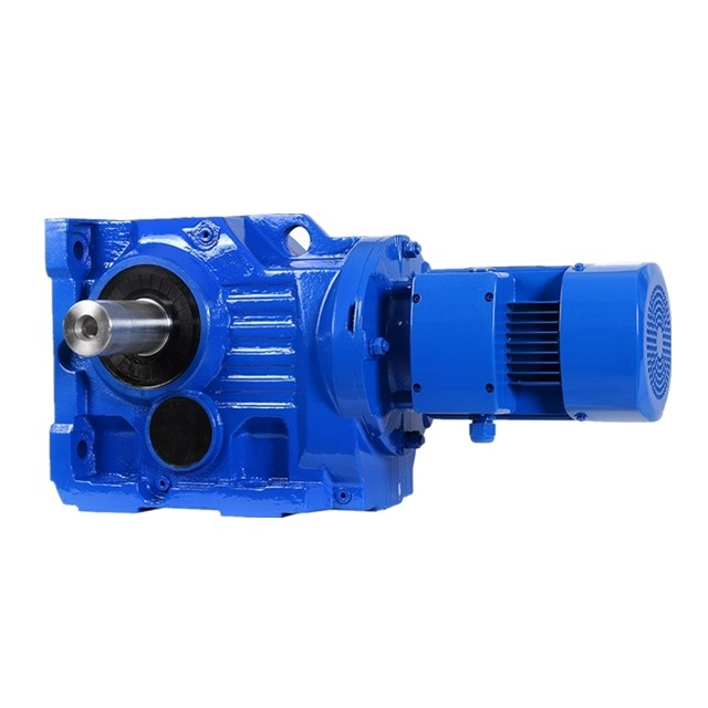 DEVO K97  hard tooth surface gear speed reducer helical gearbox with 10hp electric motor