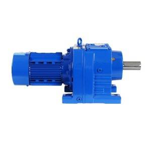 Helical gear reducer RF37 200 N.m output speed 10.3-420.4 rpm with motor
