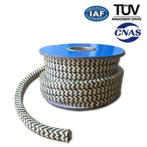 PTFE Graphite Packing med Aramid Corner