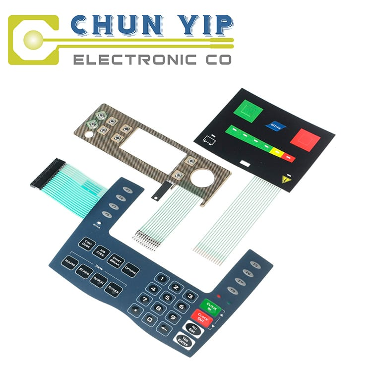 Tin Plate Plate Keyboard Membrane Switch -
