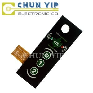 Color Coated Aluminum Steel Sheet Metal Dome Tactile Membrane Keypad -