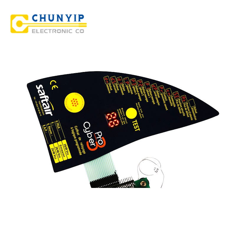 Corrugated Pre-Painted Steel Strip Led And Metal Dome Keypad Membrane Switch -