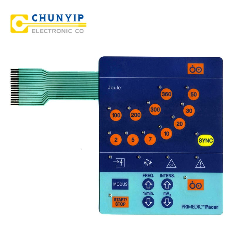 Corrugated Galvanized Steel Sheet Tactile Membrane Switch -