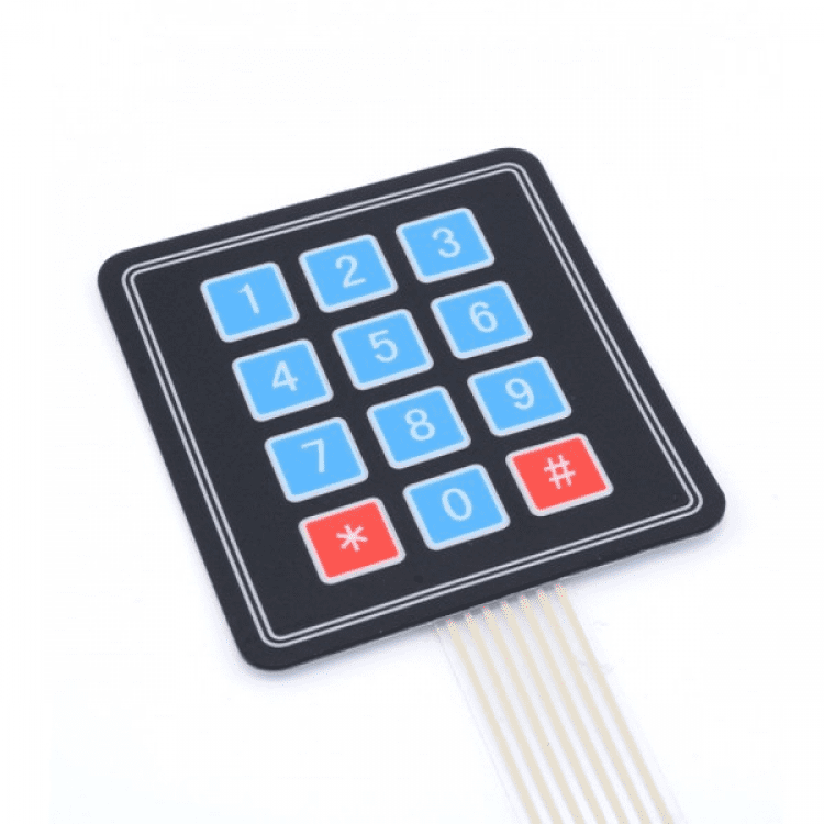 Roof Sheet Push Button Membrane Switch With Led -