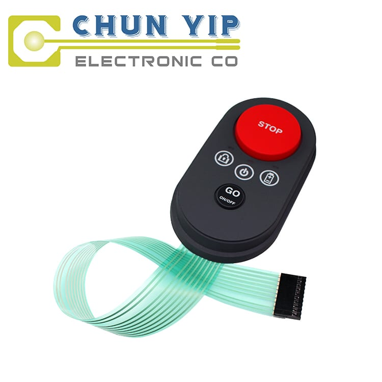 Matt Pre-Painted Steel Silicone Rubber Button Keypad -