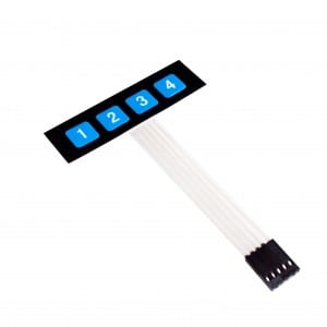 Laminated Galvanized Sheet Silicone Membrane Keyboard -