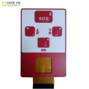 Color Coated Steel Microwave Oven Membrane Keypad -