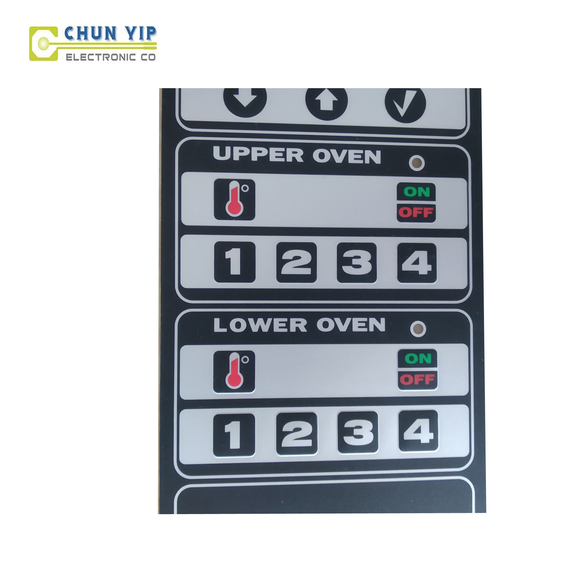 Bright Roofing Steel Membrane Switch Control Keypad -