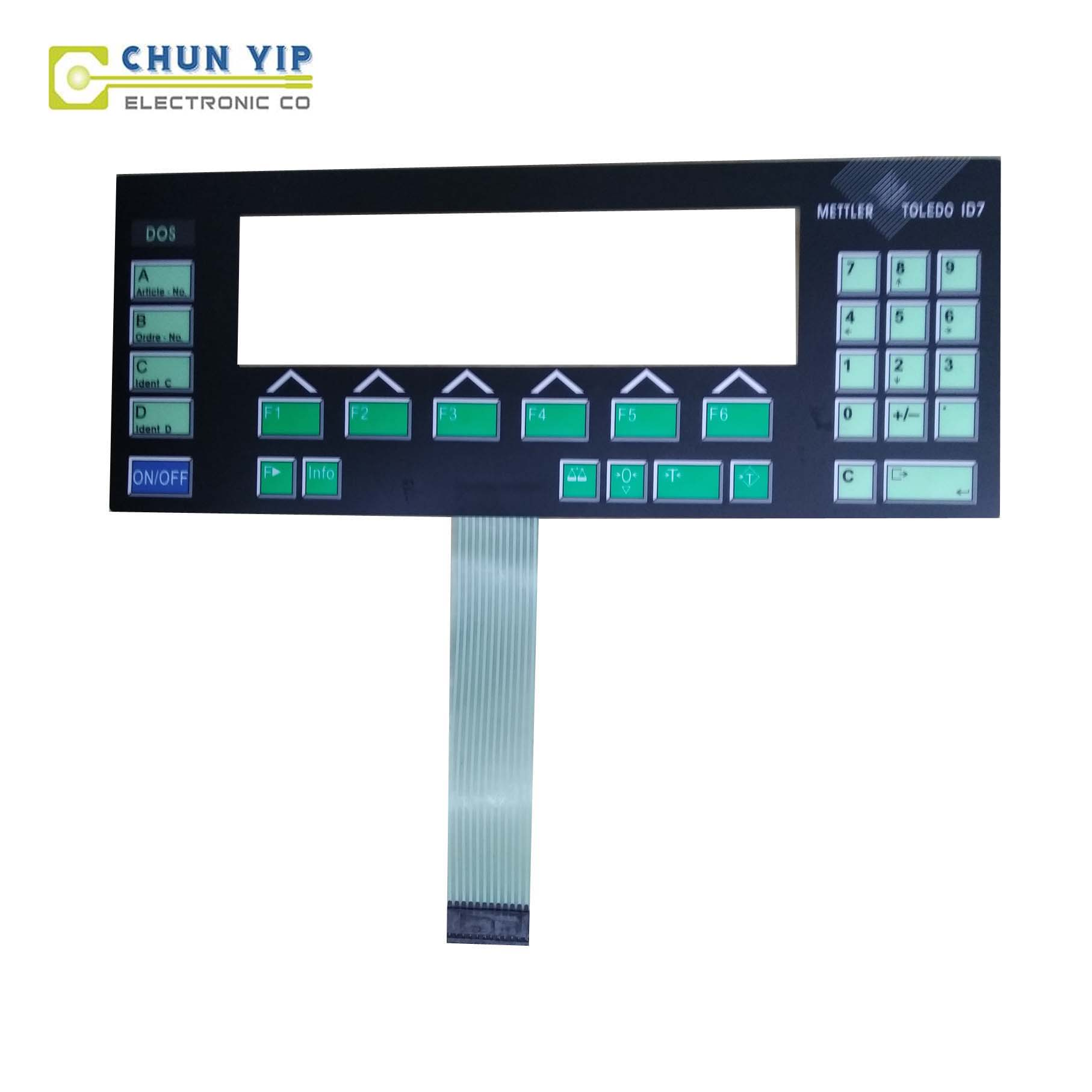 Prepainted Roofing Sheet 16 Key Membrane Switch Keyboard -