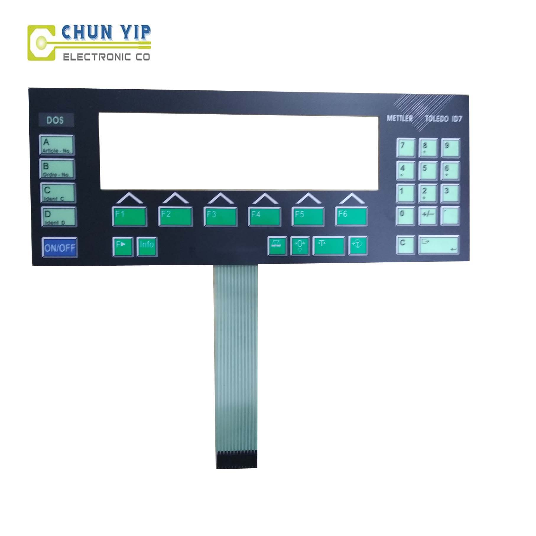 Ppgl Corrugated Sheet Matrix Membrane Keyboard -