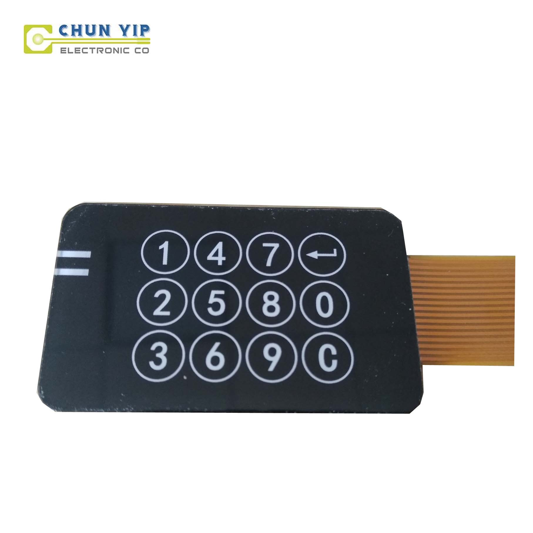 Galvalume Steel Plate Digital Print Membrane Keyboard -