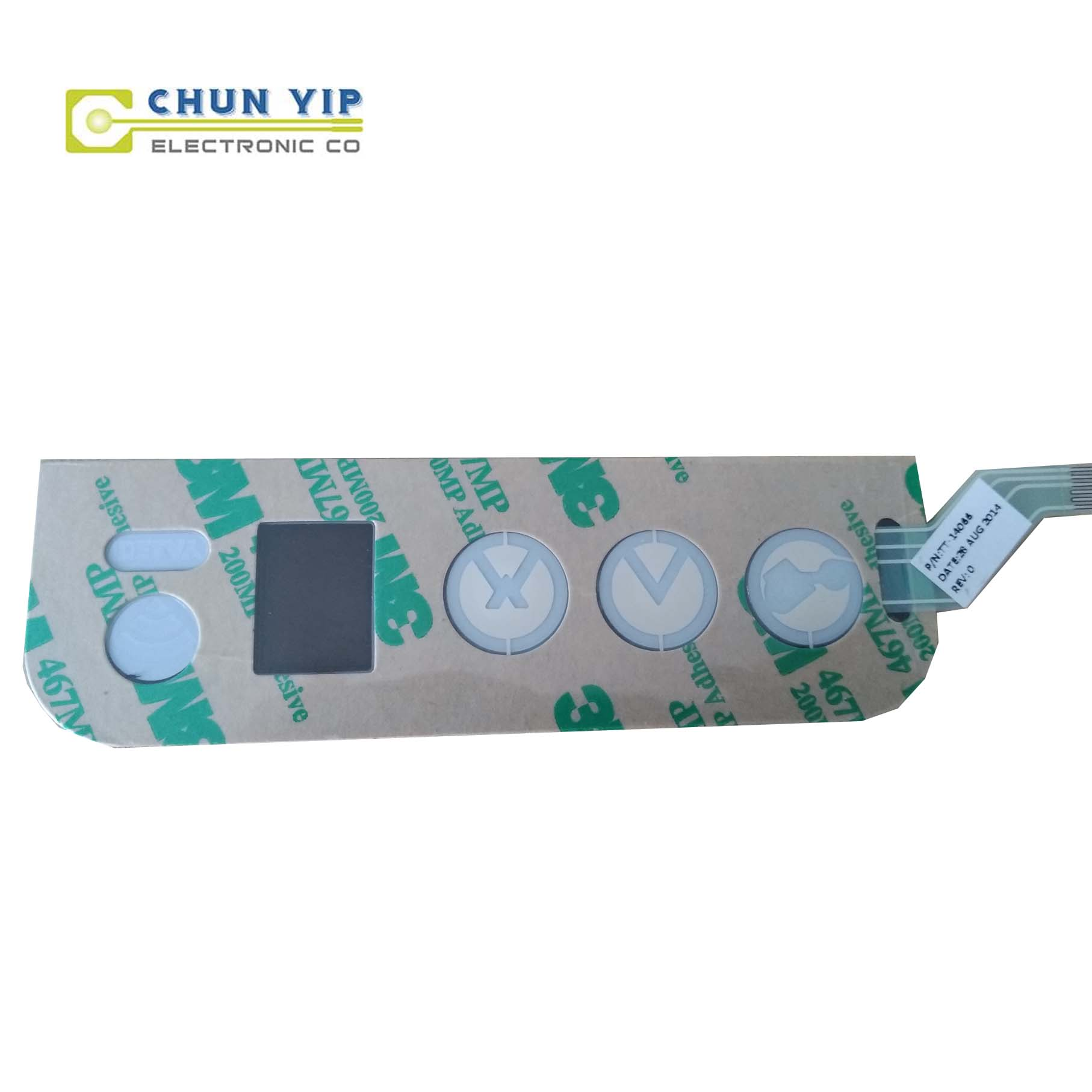 Steel Strip Pet Membrane Switch -