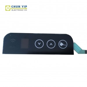 Tin Plate Sheet Membrane Switch Keyboard Control Panel -