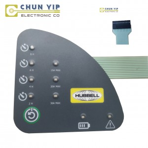 Gl Steel Plate Embossed Membrane Switch -