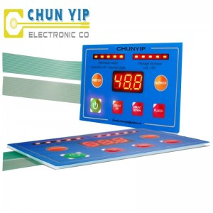 Checkered Aluminum Sheet Thick Membrane Switch -