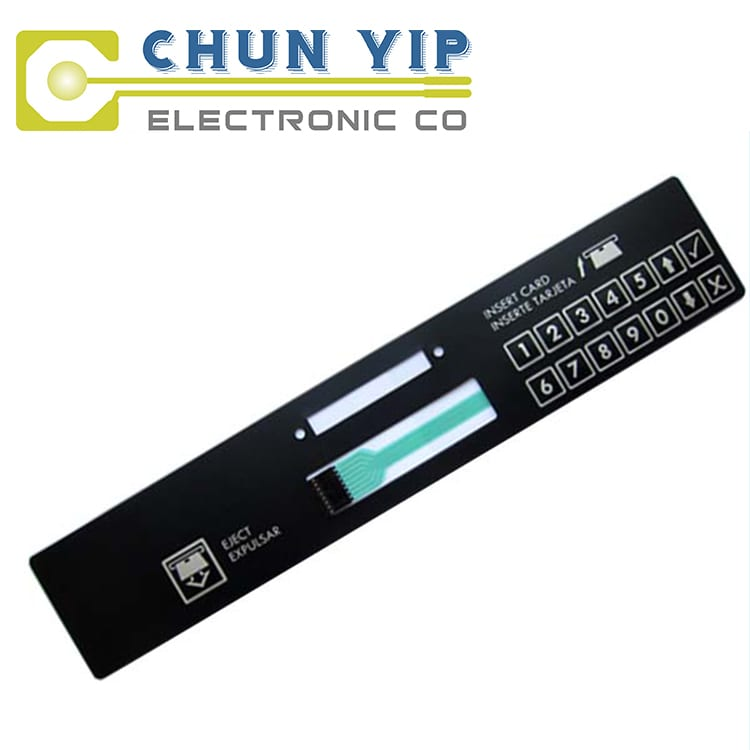 Corrugated Pre-Painted Steel Coil Membrane Overlay Keyboard -