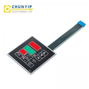 Checkered Steel Sheet Silicone Rubber Membrane Switch Keyboard -