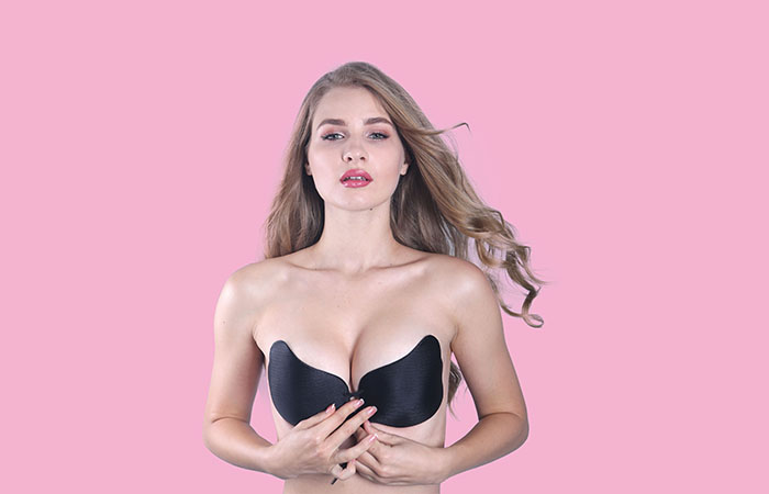 Renewable Design for Adhesive Silicone Nipple Cover - SEXY LADY INVISIBLE STRAPLESS BACKLESS SELF-ADHESIVEBRA – Weiai