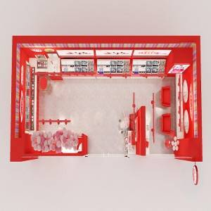 factory customized Shoe Shop Design -