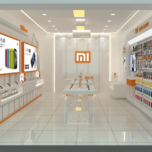 Customized mobile display showcase and shop fixtures for design shop