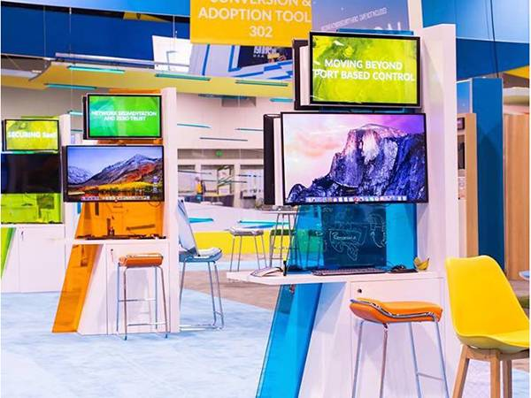 Microsoft Ignite event display stands