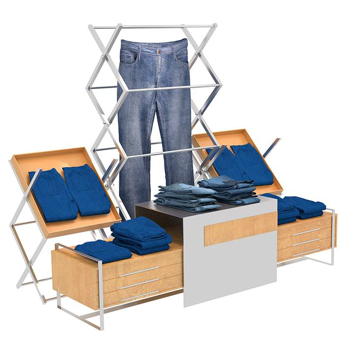 Factory Free sample Retail Makeup Display Stand -