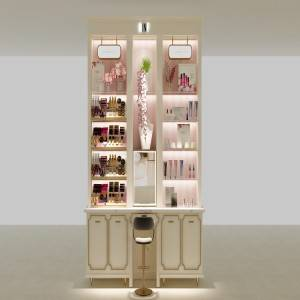Attractive cosmetic store fixtures with retail display solutions for retail design