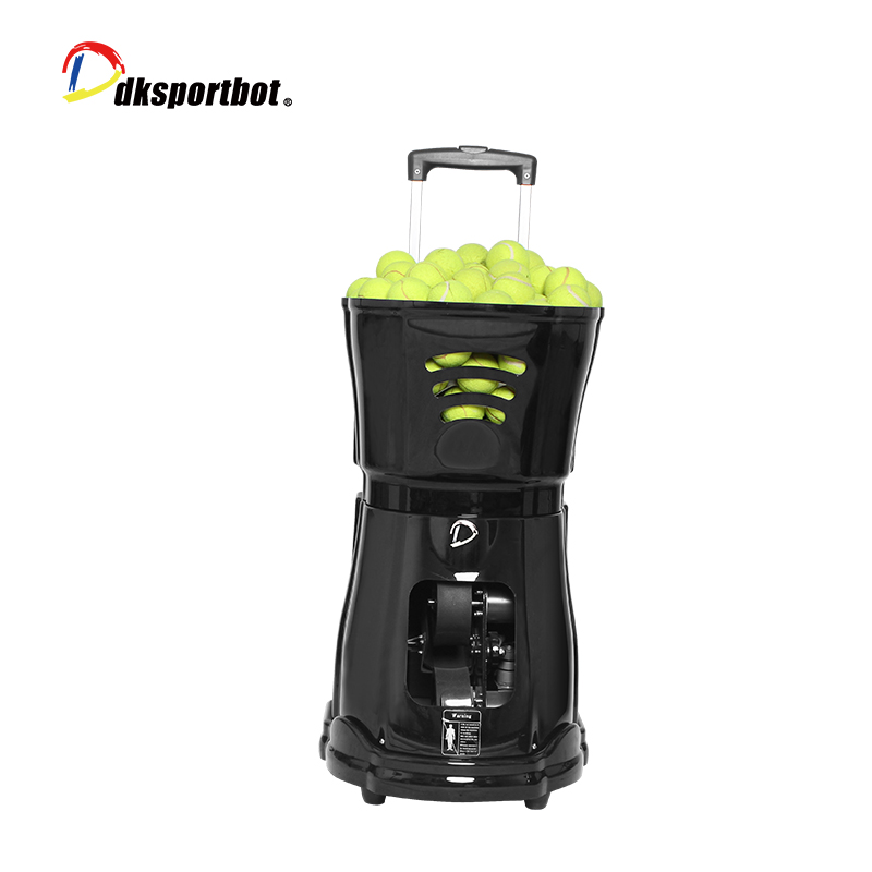 Dksportbot Tennis Ball Machine in Action Featured Image