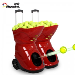 Sports training partner tennis serve machine for ball feeding shooting
