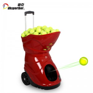 Automatic rebounded tennis ball launcher serveing machine feeding robot for shooting practice