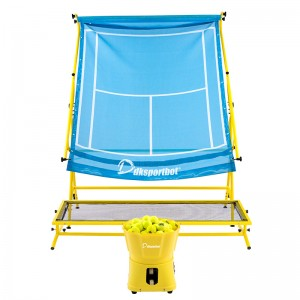 Three-piece tennis ball machine training net equipment