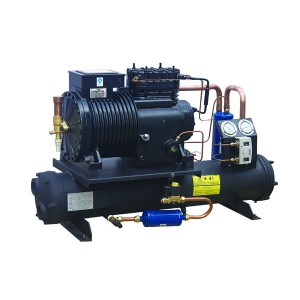 Semi-hermetic & Screw Compressor unit water cooled chiller 0~-20℃