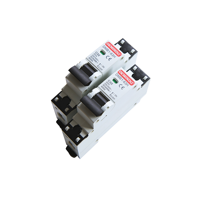 AC 400V 16A 2 Pole 2P Miniature Circuit Breaker 6000A Breaking Capacity